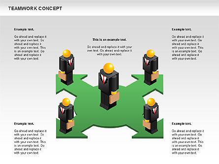 Teamwork Concept, Slide 5, 01049, Business Models — PoweredTemplate.com