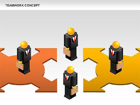 Teamwork Concept, Slide 6, 01049, Business Models — PoweredTemplate.com