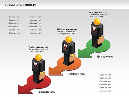 Teamwork Concept, Slide 8, 01049, Business Models — PoweredTemplate.com
