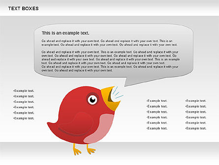 Twitter Text Boxes, 01051, Text Boxes — PoweredTemplate.com