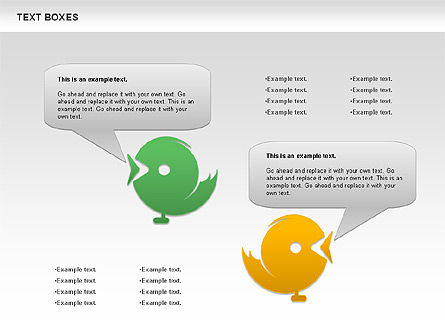 Twitter Text Boxes, Slide 2, 01051, Text Boxes — PoweredTemplate.com
