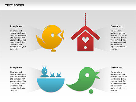 Twitter Text Boxes, Slide 3, 01051, Text Boxes — PoweredTemplate.com