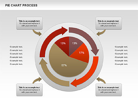 Pie Charts: Pie Chart with Circle Process (data-driven) #01052