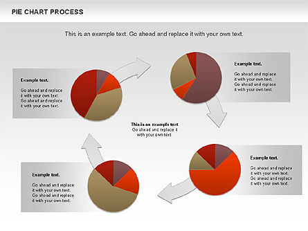 Pie Chart with Circle Process (data-driven), Slide 10, 01052, Pie Charts — PoweredTemplate.com