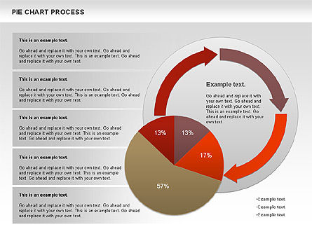 Pie Chart with Circle Process (data-driven), Slide 11, 01052, Pie Charts — PoweredTemplate.com