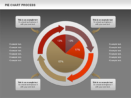 Pie Chart with Circle Process (data-driven), Slide 12, 01052, Pie Charts — PoweredTemplate.com