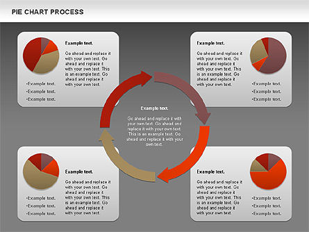 Pie Chart with Circle Process (data-driven), Slide 13, 01052, Pie Charts — PoweredTemplate.com