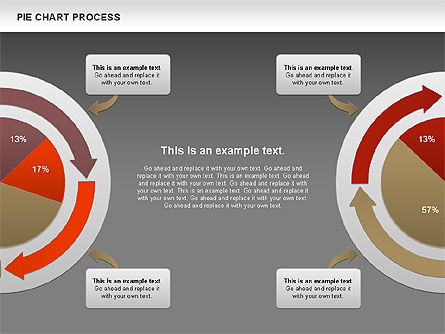 Pie Chart with Circle Process (data-driven), Slide 14, 01052, Pie Charts — PoweredTemplate.com