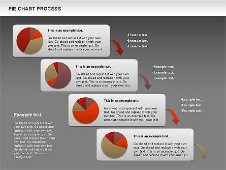 Pie Chart with Circle Process (data-driven), Slide 15, 01052, Pie Charts — PoweredTemplate.com