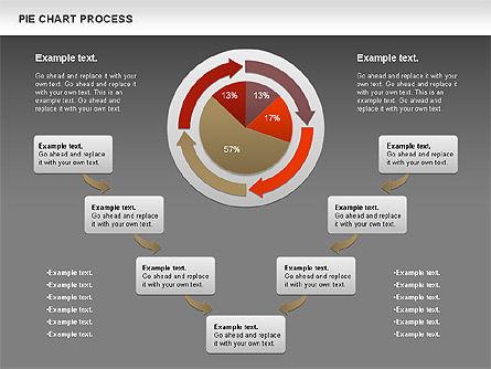 Pie Chart with Circle Process (data-driven), Slide 16, 01052, Pie Charts — PoweredTemplate.com