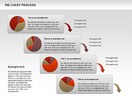 Pie Chart with Circle Process (data-driven) Slide 4