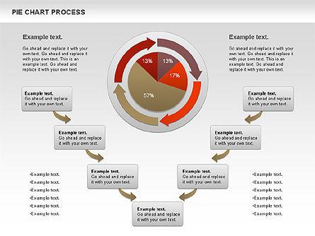 Pie Chart with Circle Process (data-driven), Slide 5, 01052, Pie Charts — PoweredTemplate.com