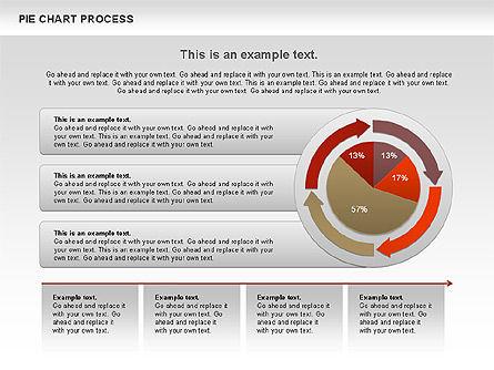 Pie Chart with Circle Process (data-driven), Slide 6, 01052, Pie Charts — PoweredTemplate.com
