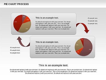 Pie Chart with Circle Process (data-driven), Slide 7, 01052, Pie Charts — PoweredTemplate.com