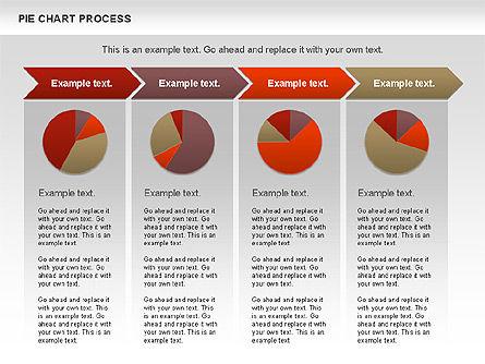 Pie Chart with Circle Process (data-driven), Slide 8, 01052, Pie Charts — PoweredTemplate.com