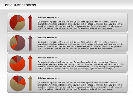 Pie Chart with Circle Process (data-driven), Slide 9, 01052, Pie Charts — PoweredTemplate.com