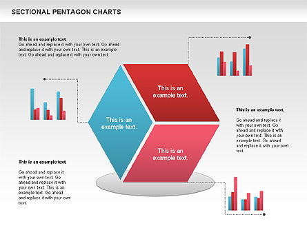 Business Models: Sectional Hexagon Chart #01054