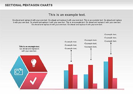 Sectional Hexagon Chart, Slide 2, 01054, Business Models — PoweredTemplate.com