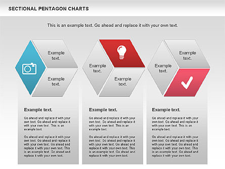 Sectional Hexagon Chart, Slide 3, 01054, Business Models — PoweredTemplate.com