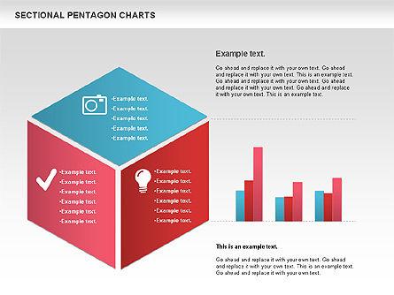 Sectional Hexagon Chart, Slide 4, 01054, Business Models — PoweredTemplate.com