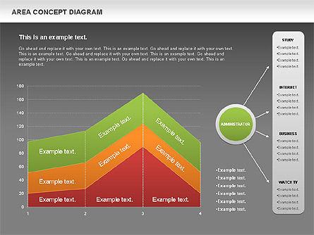 Area Concept Diagram (data-driven), Slide 12, 01055, Business Models — PoweredTemplate.com