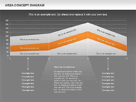 Area Concept Diagram (data-driven), Slide 14, 01055, Business Models — PoweredTemplate.com
