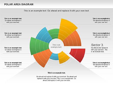 Polar Area Diagram, Slide 11, 01056, Pie Charts — PoweredTemplate.com