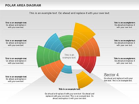 Polar Area Diagram, Slide 12, 01056, Pie Charts — PoweredTemplate.com