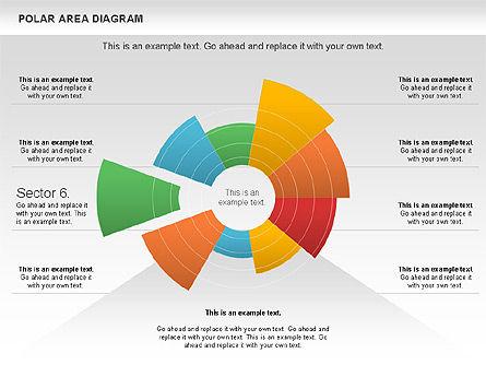 Polar Area Diagram, Slide 14, 01056, Pie Charts — PoweredTemplate.com