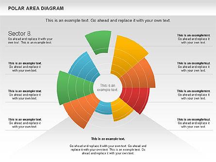 Polar Area Diagram, Slide 16, 01056, Pie Charts — PoweredTemplate.com