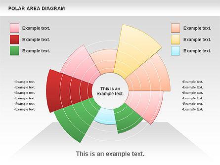 Polar Area Diagram, Slide 4, 01056, Pie Charts — PoweredTemplate.com