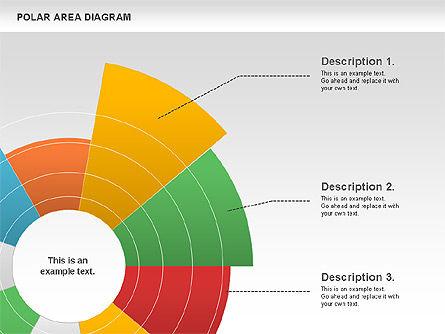 Polar Area Diagram, Slide 8, 01056, Pie Charts — PoweredTemplate.com