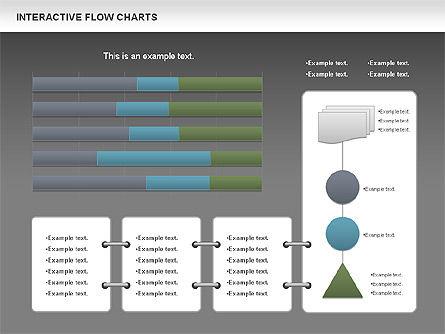 Interactive Flow Chart (data-driven), Slide 12, 01057, Flow Charts — PoweredTemplate.com