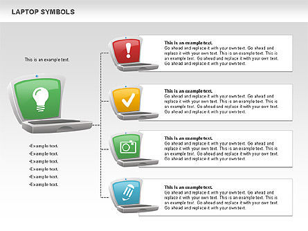 Laptop with Icons, Slide 10, 01058, Icons — PoweredTemplate.com