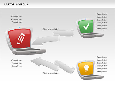 Laptop with Icons, Slide 5, 01058, Icons — PoweredTemplate.com