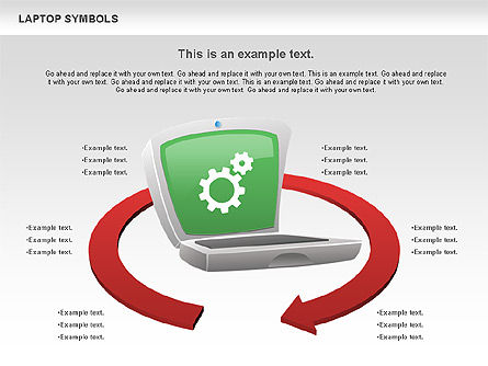 Laptop with Icons, Slide 6, 01058, Icons — PoweredTemplate.com