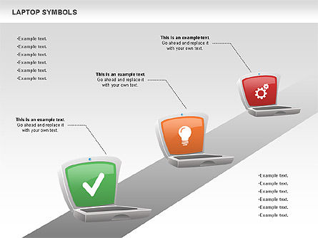 Laptop with Icons, Slide 7, 01058, Icons — PoweredTemplate.com