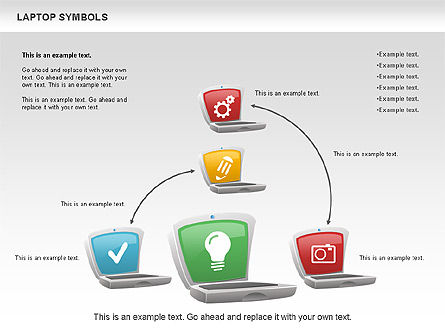 Laptop with Icons, Slide 9, 01058, Icons — PoweredTemplate.com