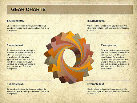 Gears Chart, 01060, Stage Diagrams — PoweredTemplate.com