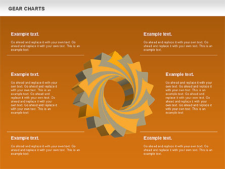 Gears Chart, Slide 12, 01060, Stage Diagrams — PoweredTemplate.com