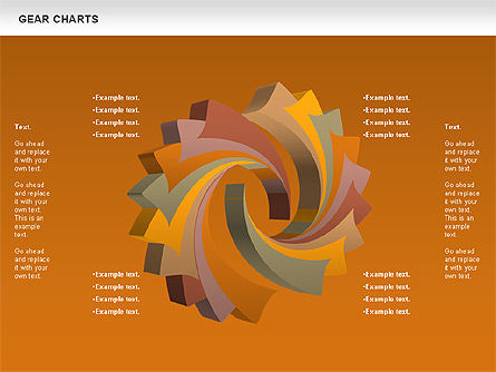 Gears Chart, Slide 13, 01060, Stage Diagrams — PoweredTemplate.com