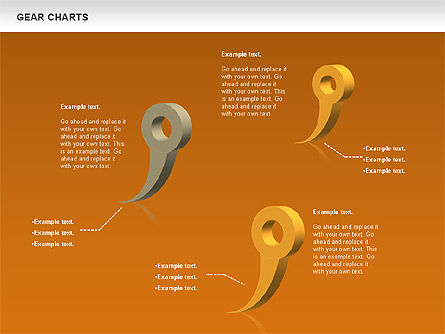 Gears Chart, Slide 14, 01060, Stage Diagrams — PoweredTemplate.com