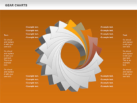 Gears Chart, Slide 15, 01060, Stage Diagrams — PoweredTemplate.com