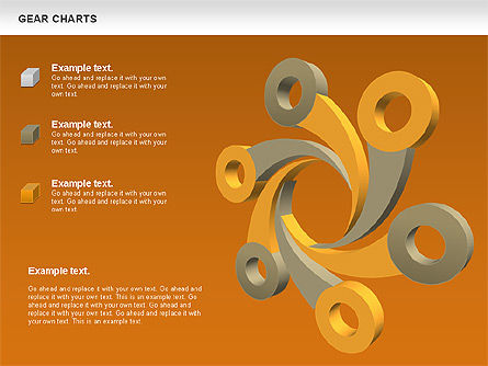 Gears Chart, Slide 16, 01060, Stage Diagrams — PoweredTemplate.com