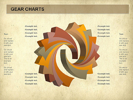 Gears Chart, Slide 2, 01060, Stage Diagrams — PoweredTemplate.com