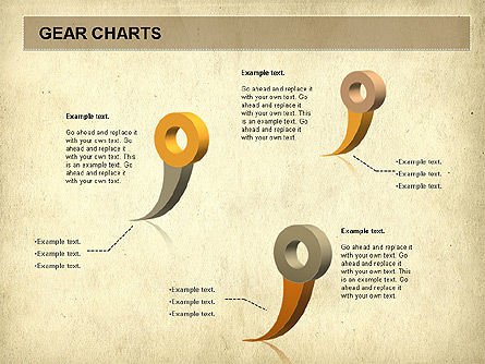 Gears Chart, Slide 3, 01060, Stage Diagrams — PoweredTemplate.com