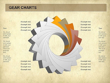 Gears Chart, Slide 4, 01060, Stage Diagrams — PoweredTemplate.com