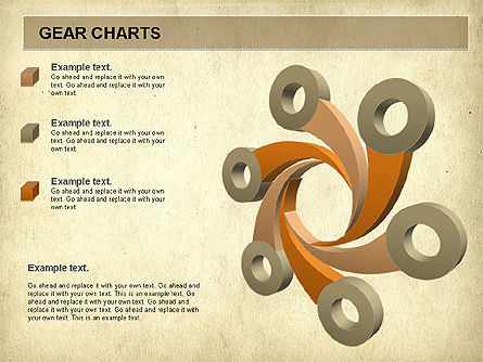 Gears Chart, Slide 5, 01060, Stage Diagrams — PoweredTemplate.com