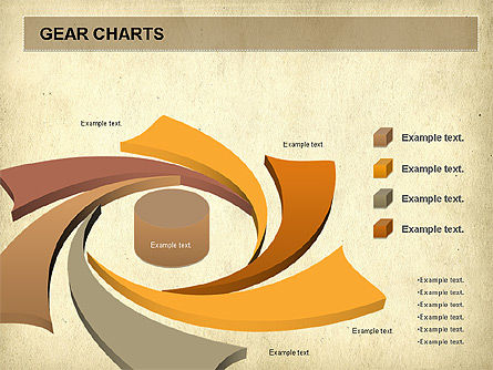 Gears Chart, Slide 6, 01060, Stage Diagrams — PoweredTemplate.com