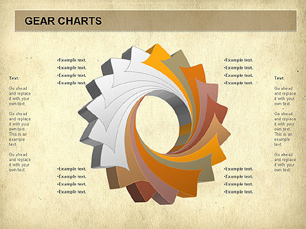 Gears Chart, Slide 7, 01060, Stage Diagrams — PoweredTemplate.com